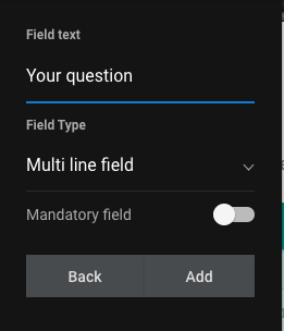 Select field type