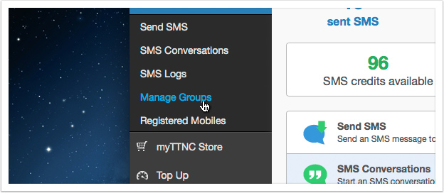 Click the 'Manage Group' link in the left hand menu