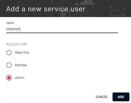 Add a New Service User