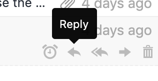 Click this icon to reply to an email