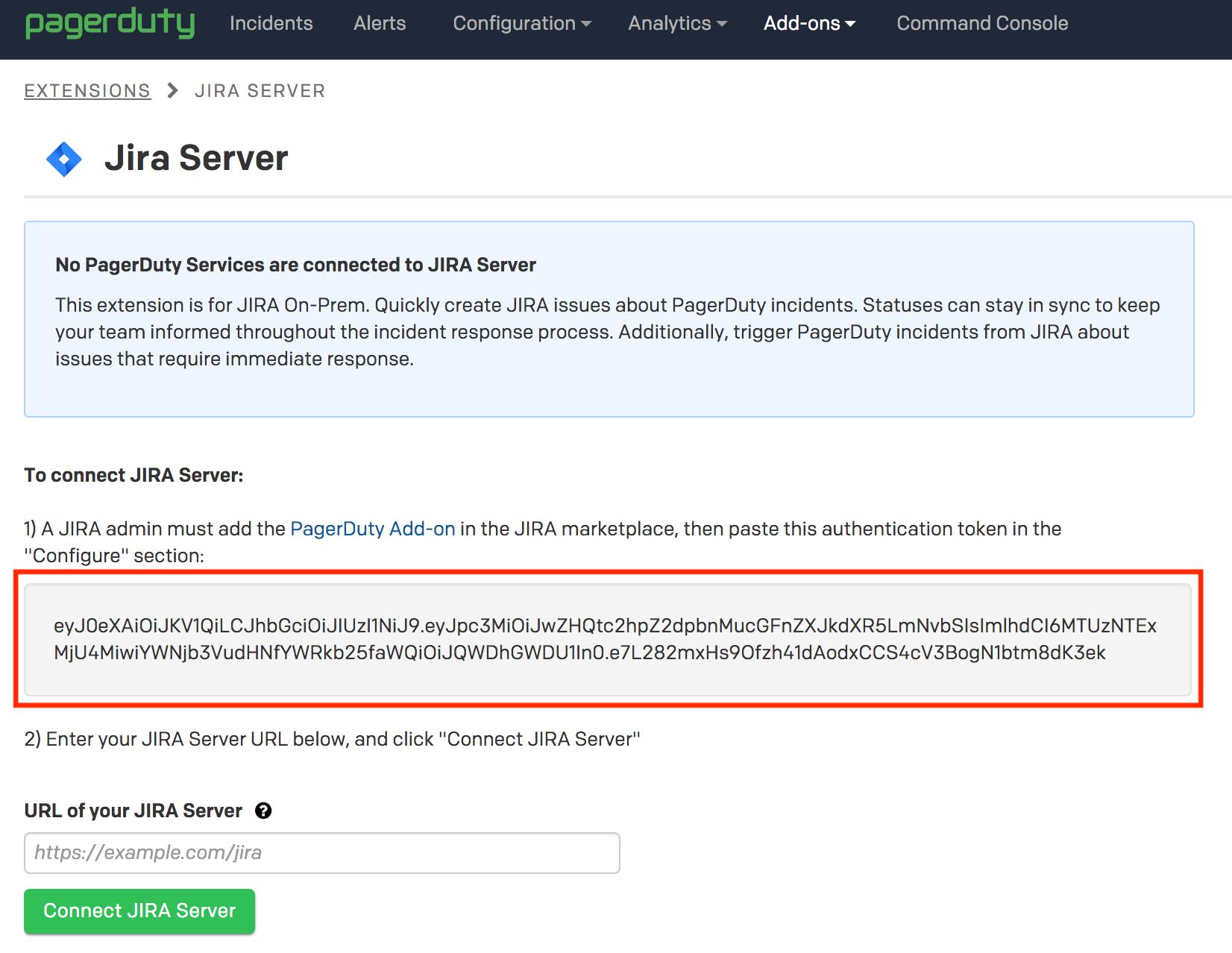 Jira Server Integration Guide | PagerDuty