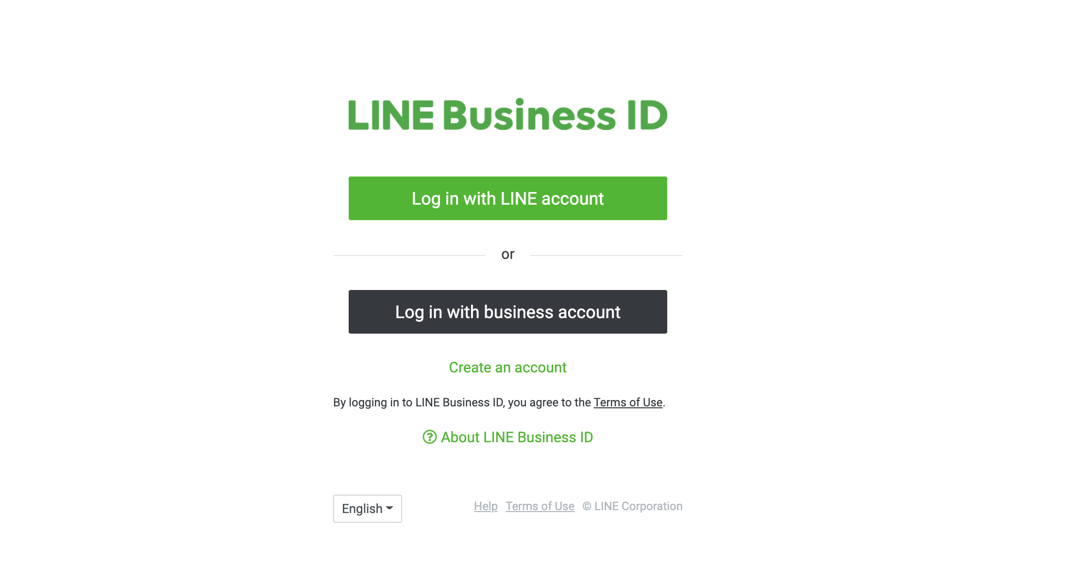 Log in with LINE Business Account