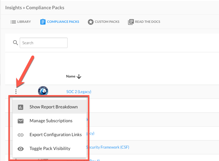 Compliance Pack Actions