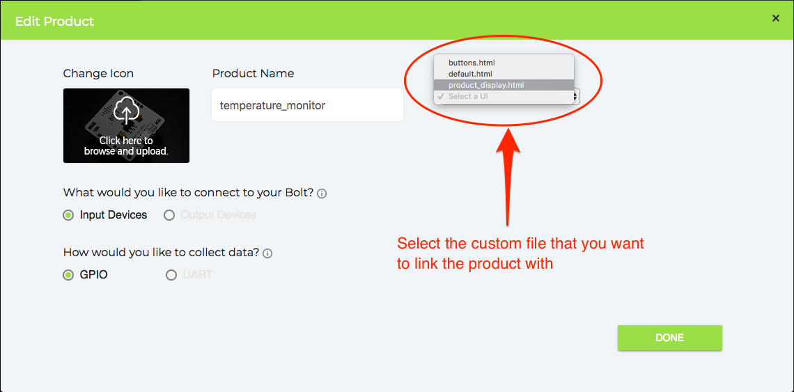 Using Custom files in your product