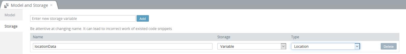 App storage variable