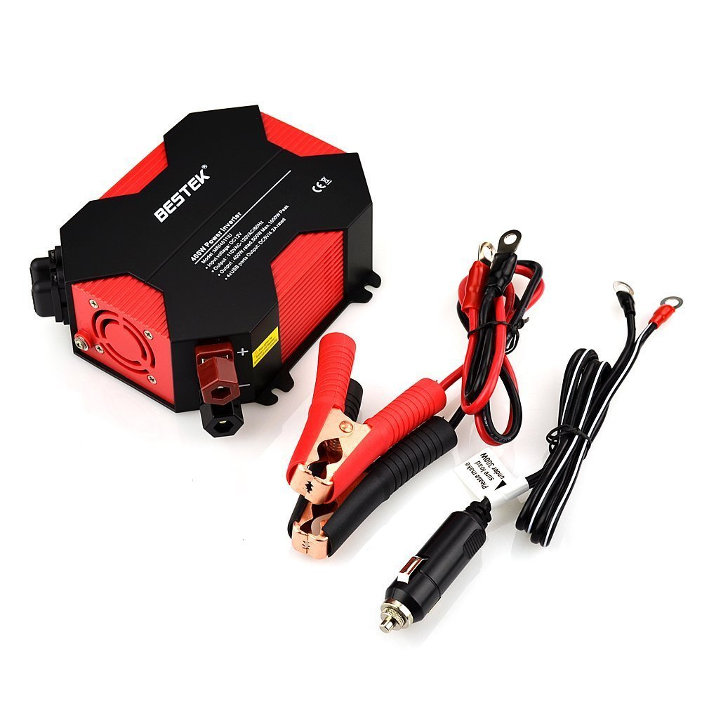 Optional 400 Watt Power Inverter (12 Volts DC to 110 Volts AC)