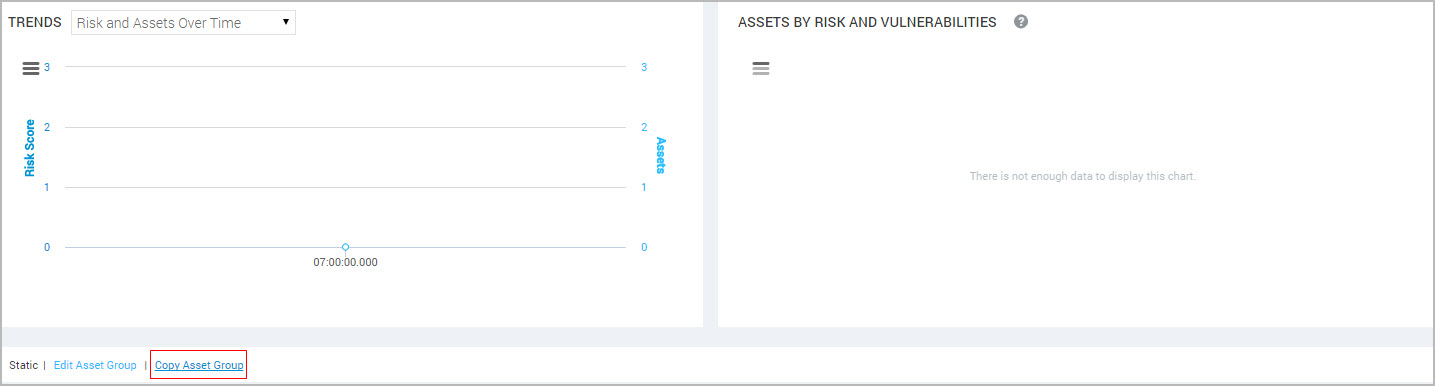 Copying an asset group from the asset group details page