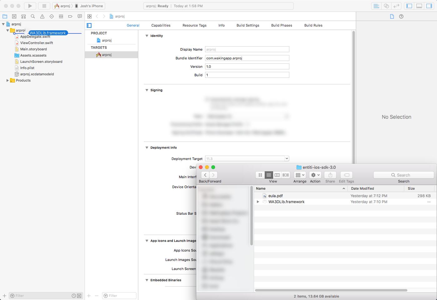 Xcode 10 Add Framework