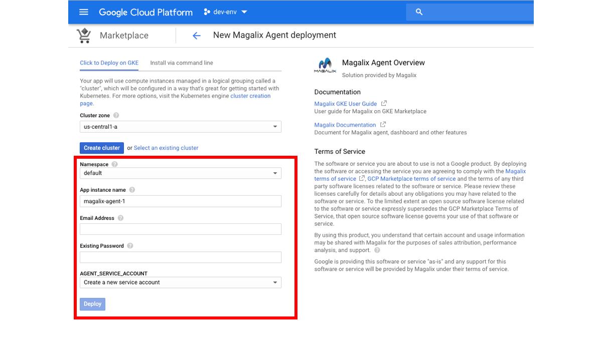 Magalix Agent Deployment on Google Kubernetes Engine (GKE)