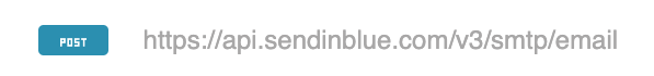 Sendinblue API endpoint and method to send a transactional email
