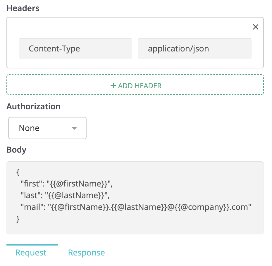 API requests and response validation