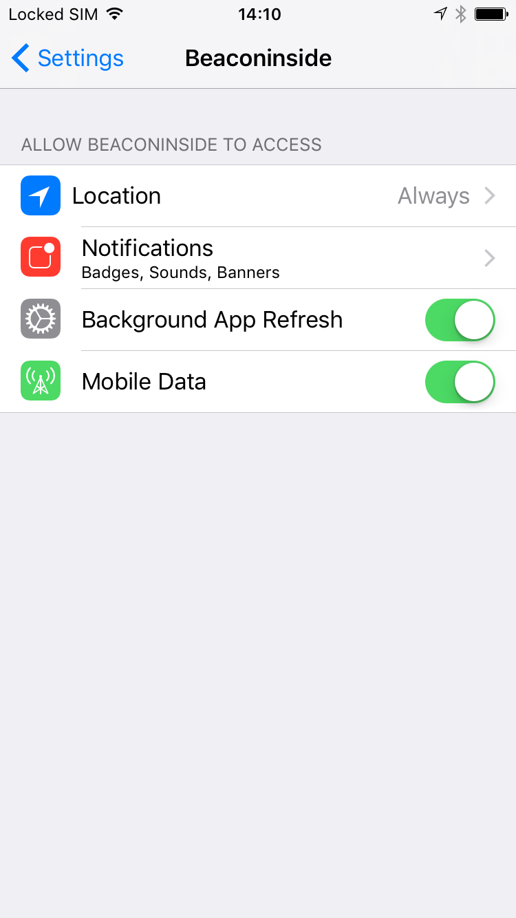 iOS: Did you provide the right app permissions? (in Settings > App)