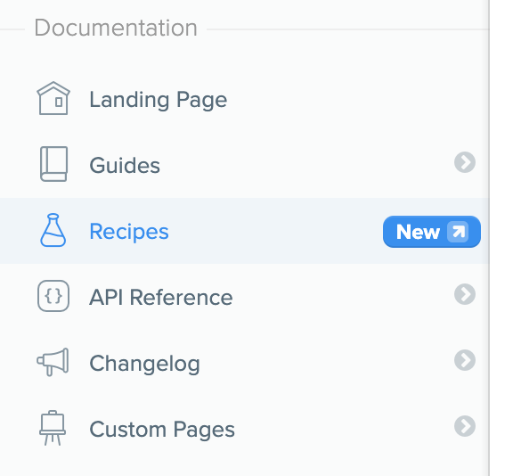 Or head there directly by typing `/recipes` in your URL after your custom domain.