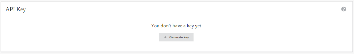 Generate an API key to use the application