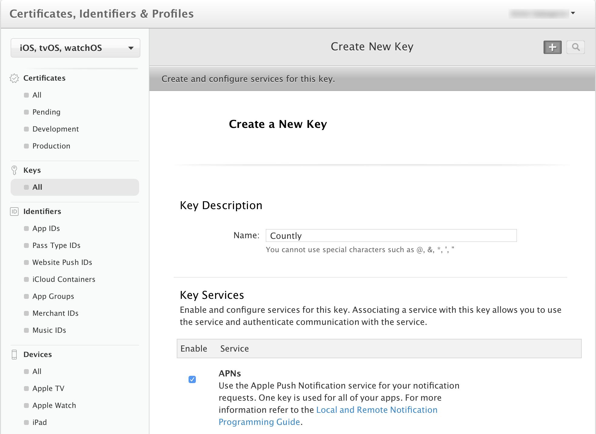 iOS, watchOS, tvOS & macOS