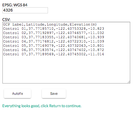 Here is what the GCP .CSV Editor will look like in your browser.