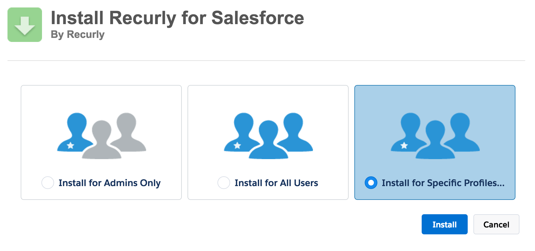 Recurly for Salesforce Setup