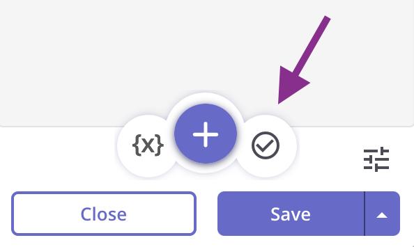Add assertion button