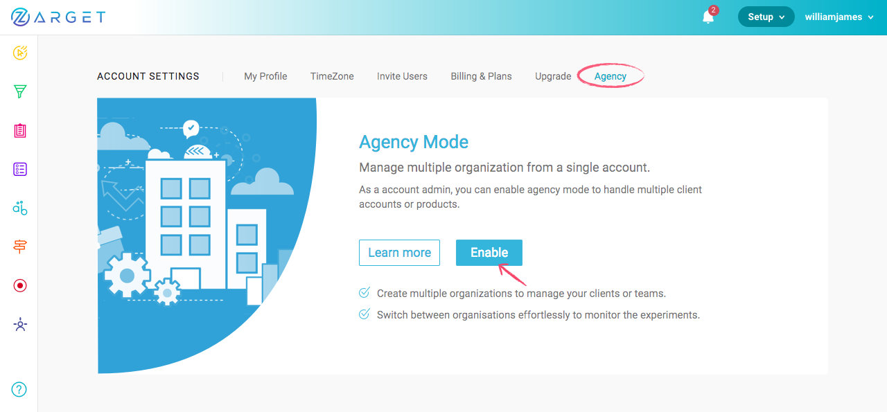 Enabling Agency Mode