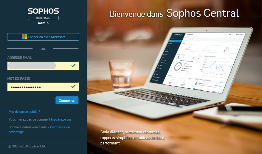 Acceuil Sophos