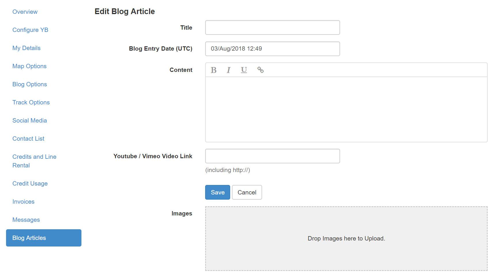 YBlog - Add Post