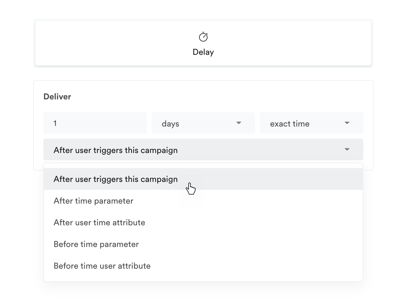 Delay based on trigger event parameter or user attribute