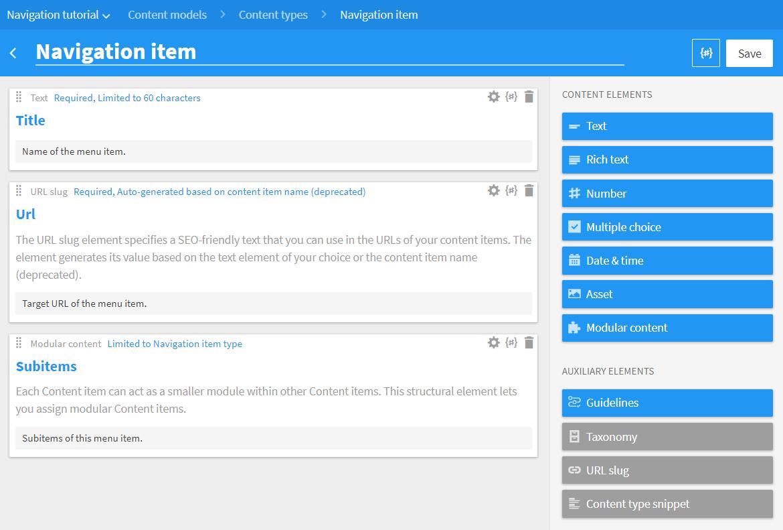 Managing navigation menus