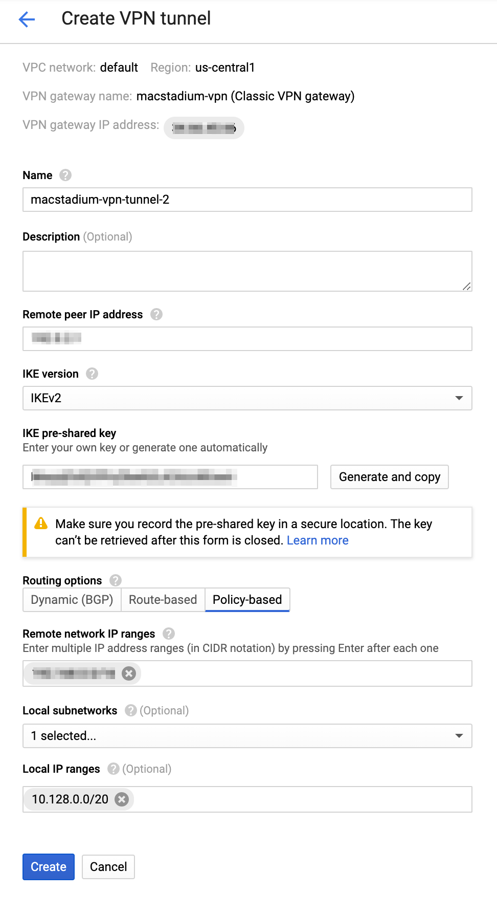 Google Cloud Networking Setup