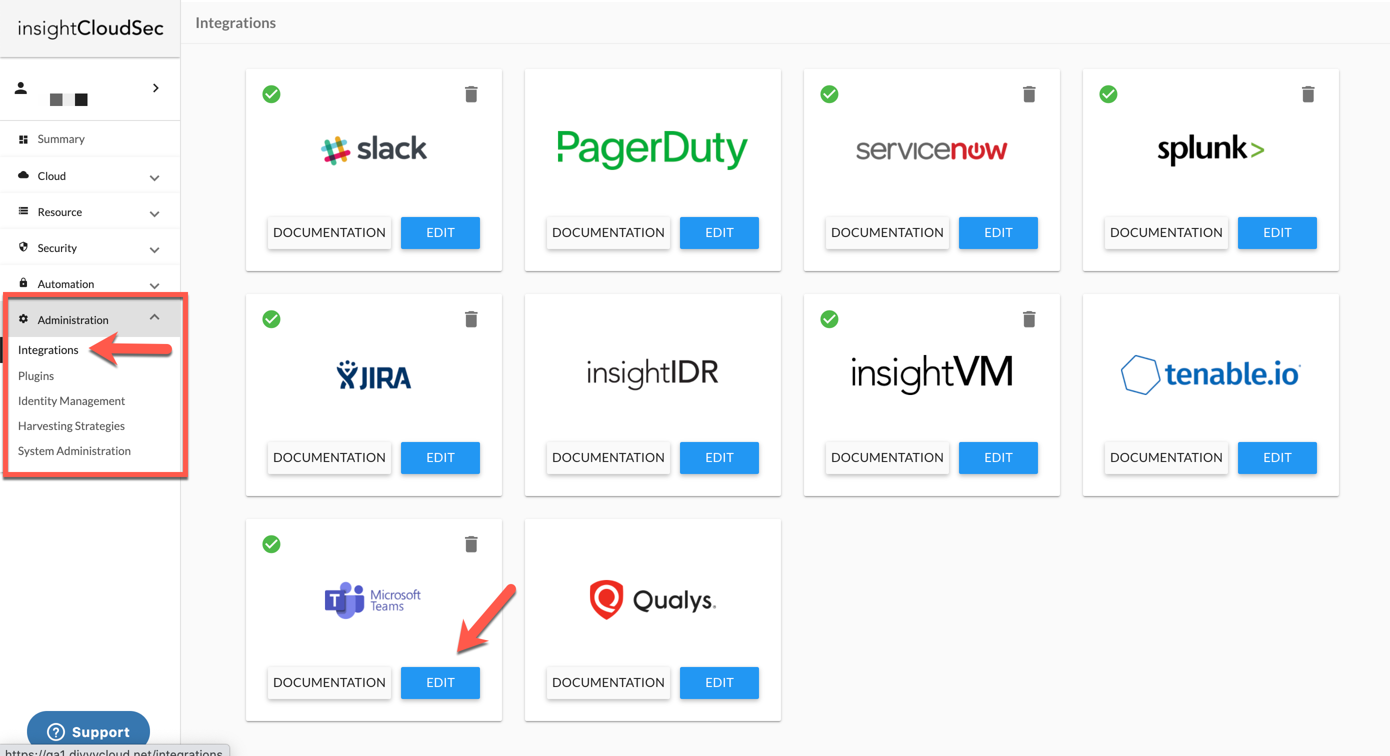 Create a New Microsoft Teams Integration in InsightCloudSec