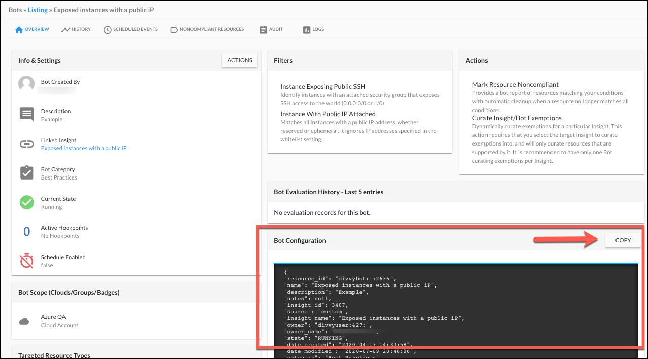 Copy a Bot Configuration