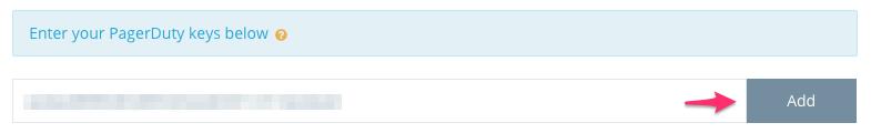 Step 2: Add a new PagerDuty key