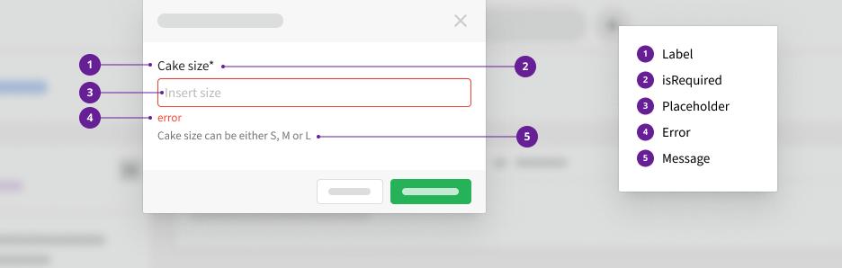 Input Block with an error message