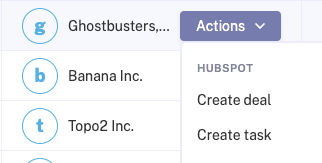 Triggering Hubspot Actions on an account