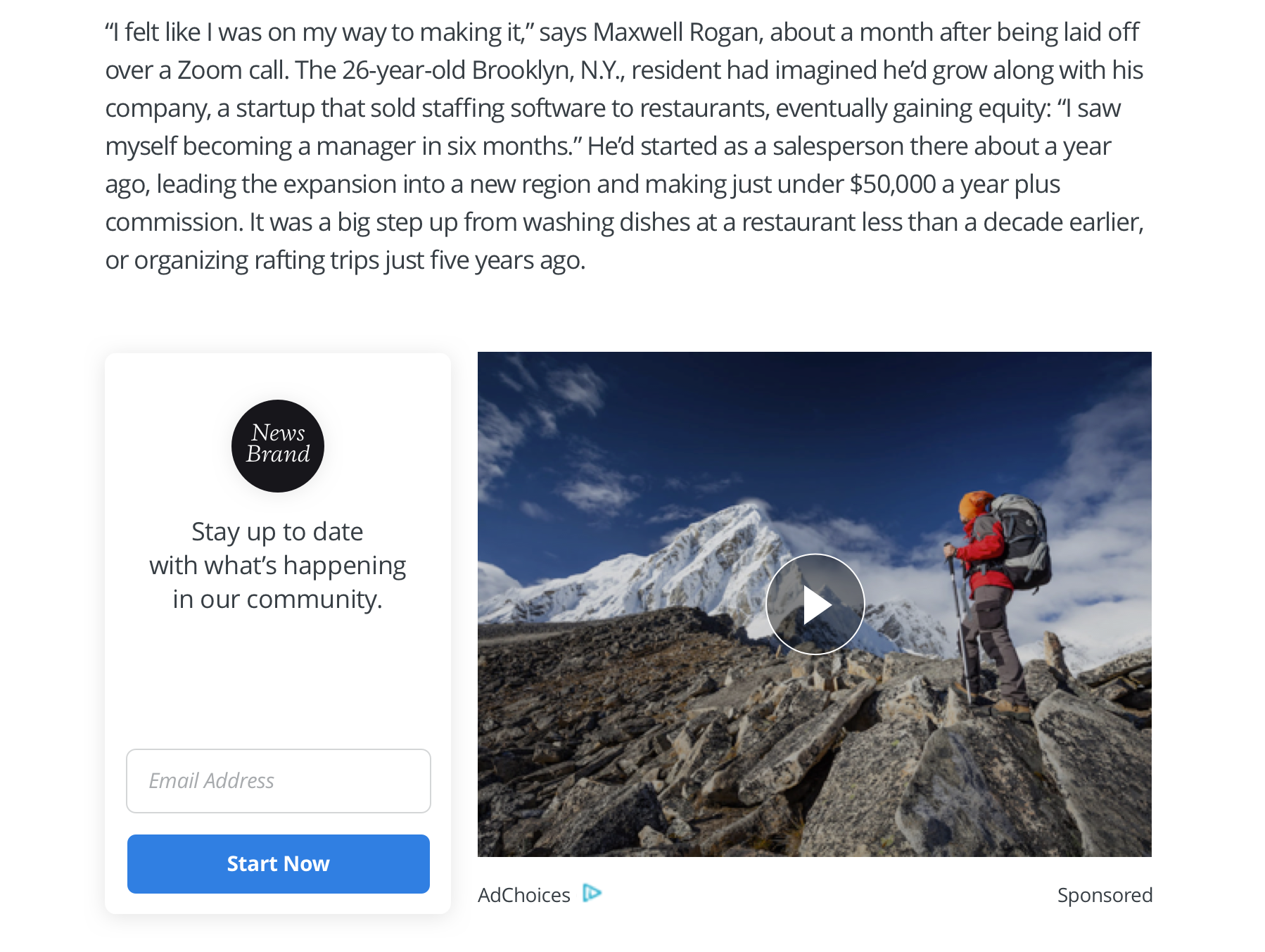 Collecting newsletter subscribers using Spotlight