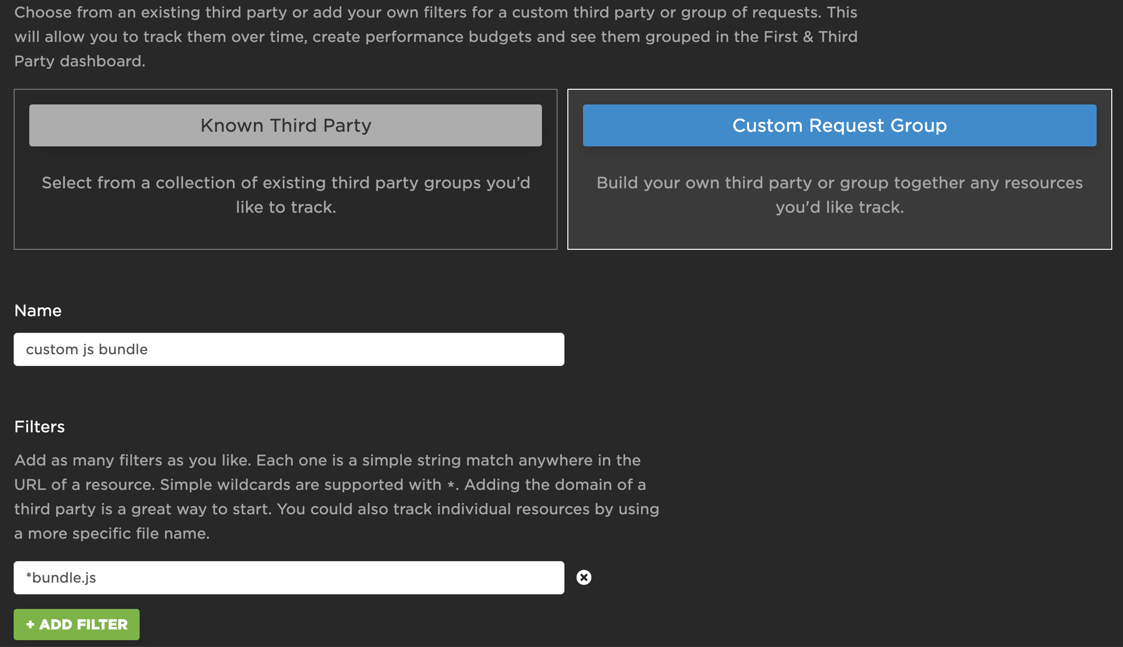 Creating a Custom Request Group