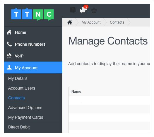 Contacts for Inbound Calls