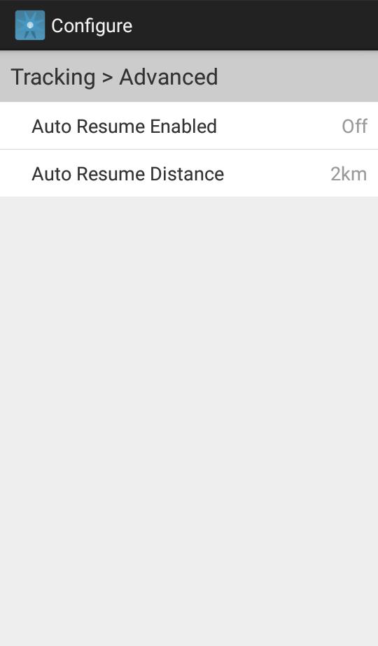 Auto Resume Tracking