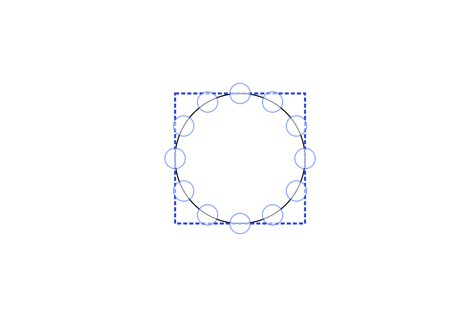 Connector points on a shape