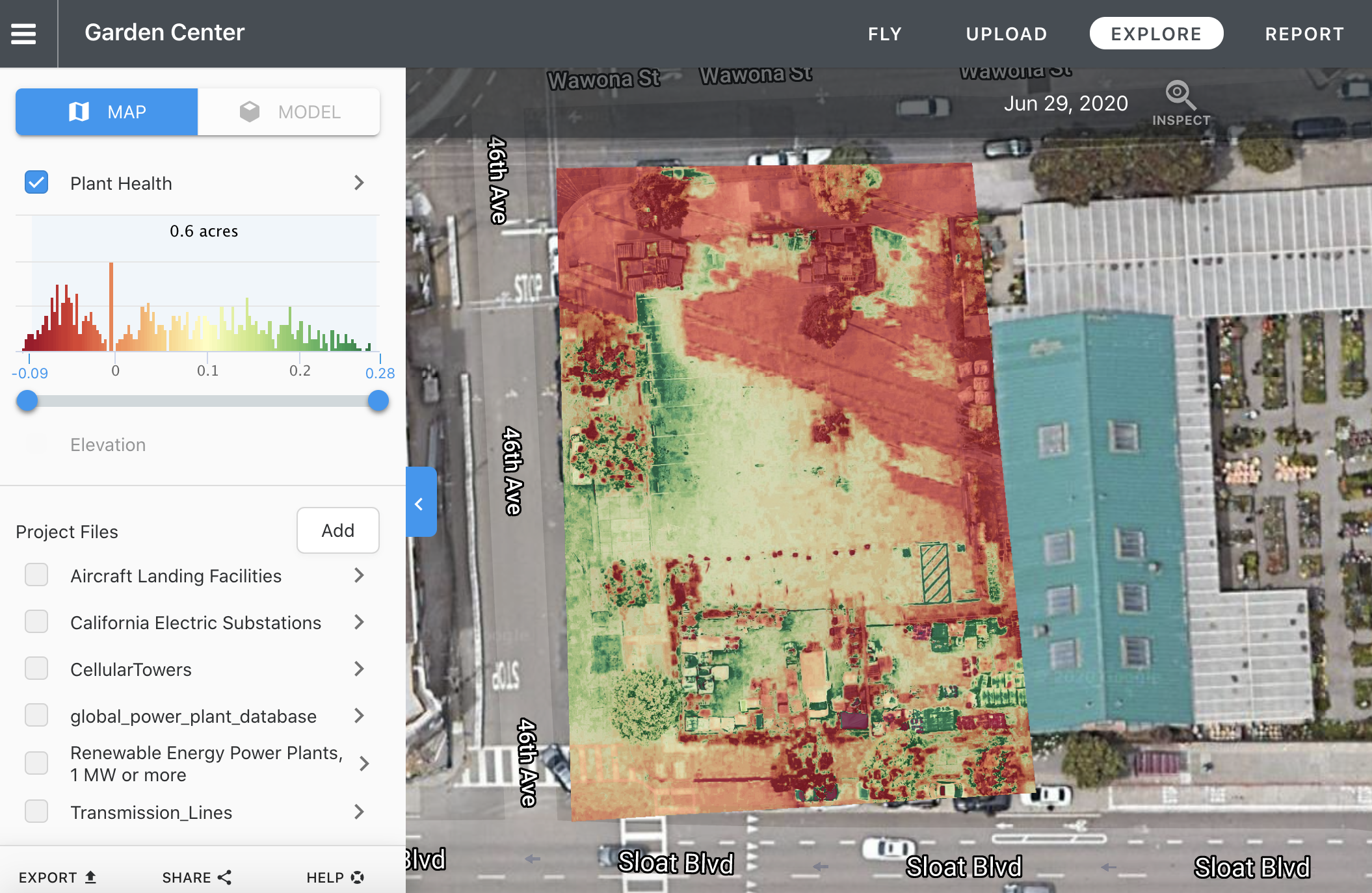 Live Map Plant Health Layer is available on our Precision Agriculture package.