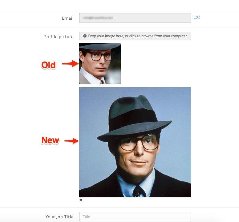 The new profile image should upload.