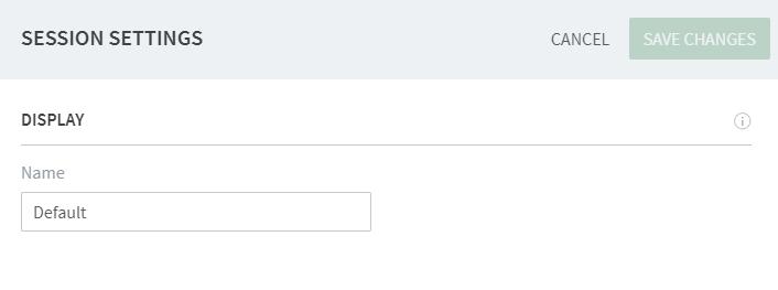 Configuring session settings · Frame Documentation