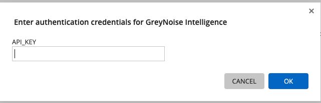 Entering a GreyNoise API Key