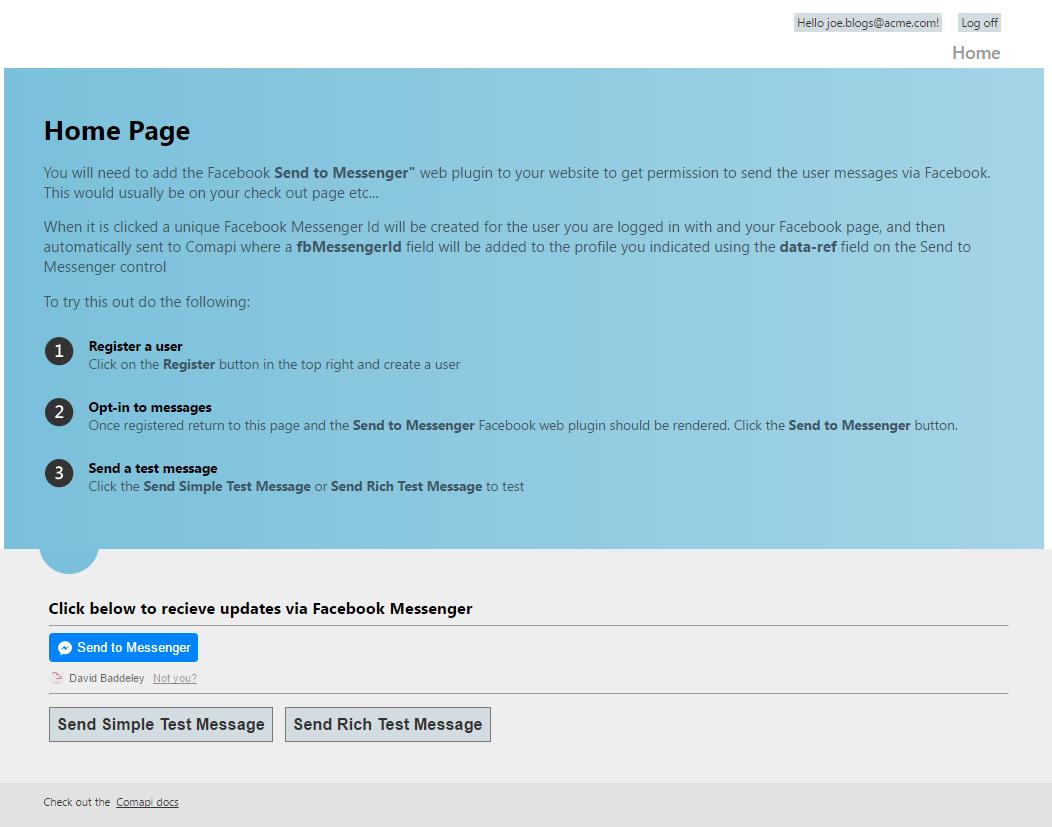 C# Tutorials example web site