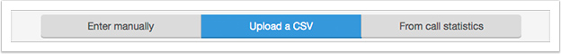 Change the tab at the top of the page so Upload a CSV is highlighted