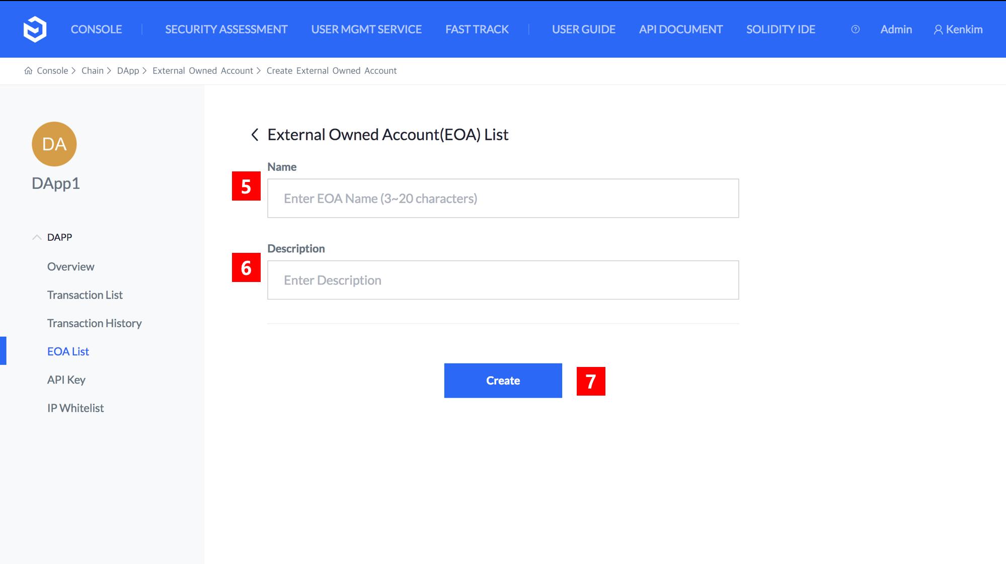 Creating Whitelist IP and Remote EOA (REOA)