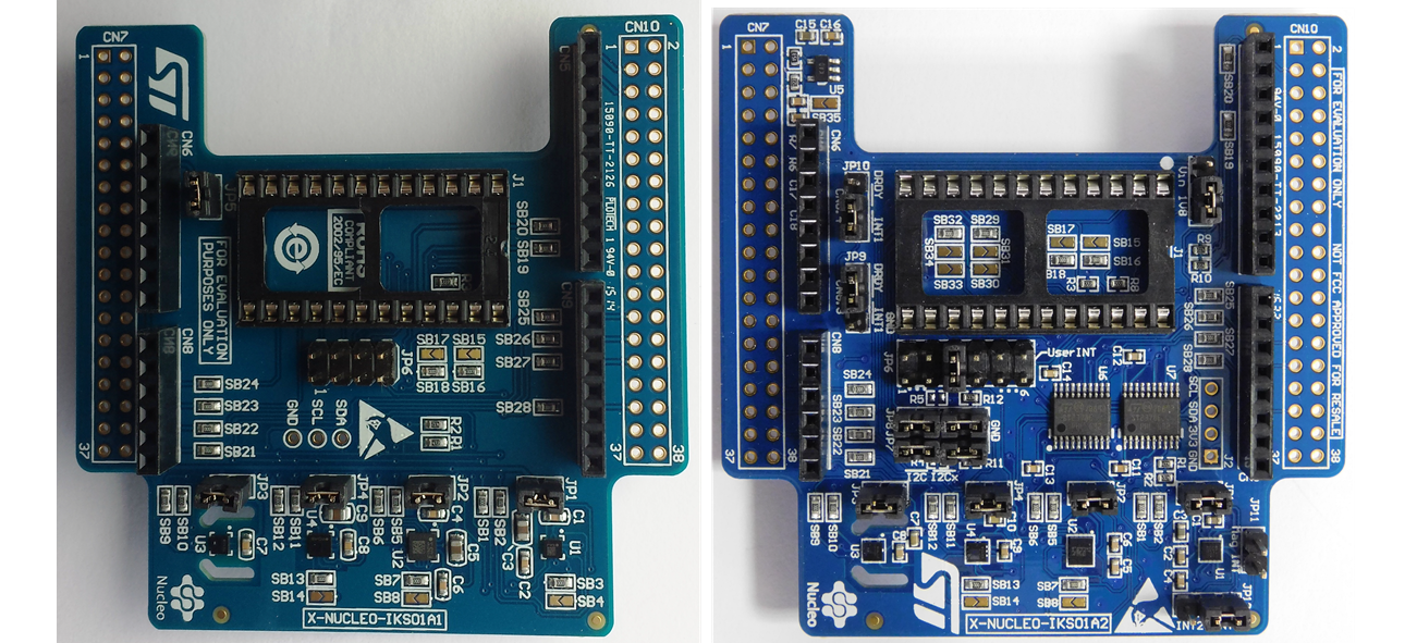 MEMS Sensor expansion boards: X-NUCLEO-IKS01A1 and X-NUCLEO-IKS01A2 (used in Ethernet and Wi-Fi projects)