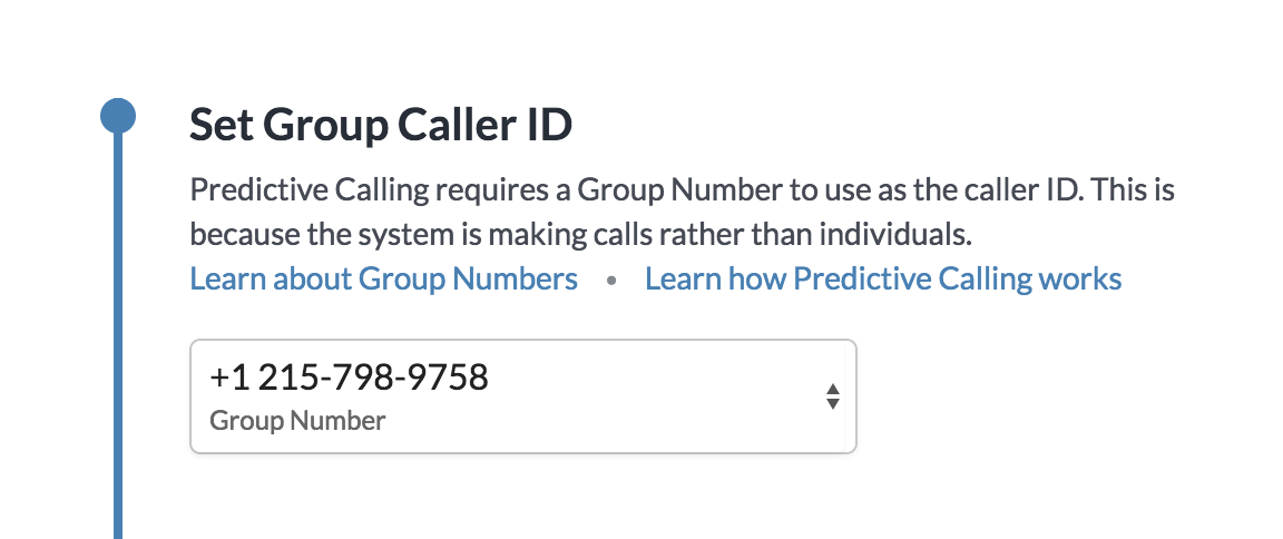 Setting a Group Caller ID