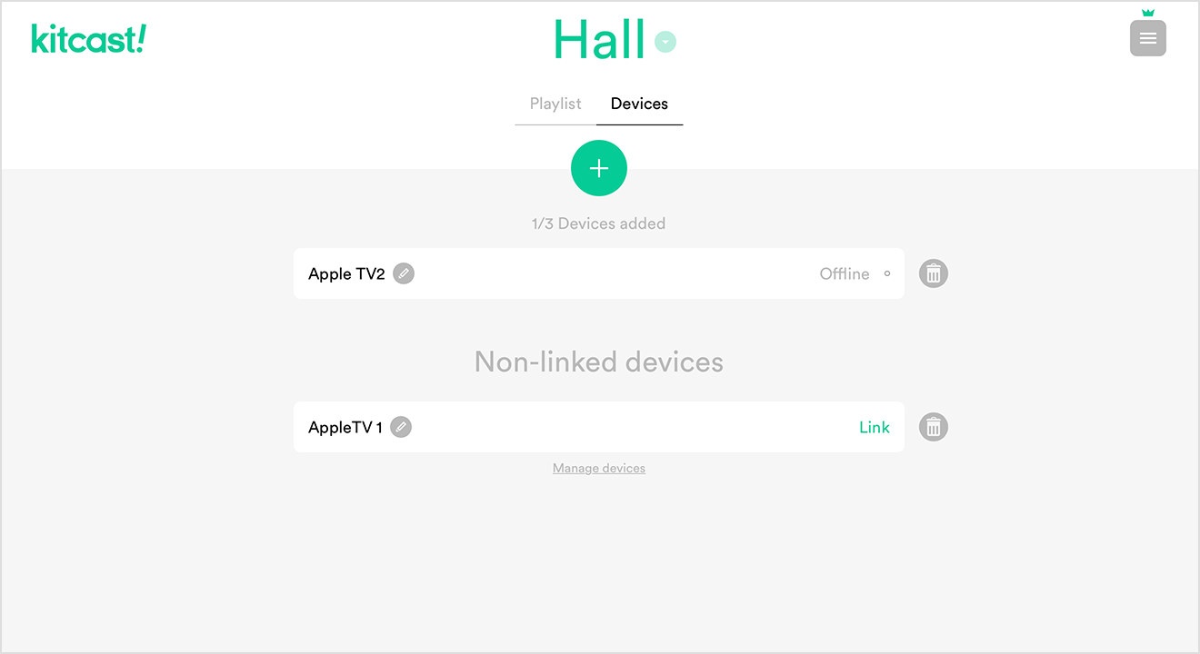 "Now lets Link it to another Location. Here we want to Link it to Hall. Lets switch the Location. As you can see – there's an Unlinked device appeared, ready to be Linked. Lets press ""Link""."