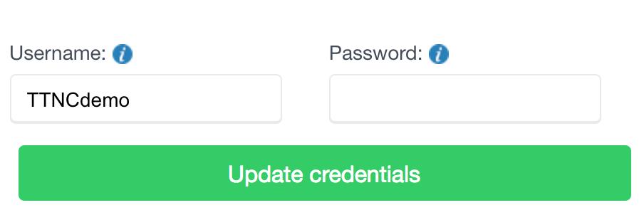Update Trunk credentials
