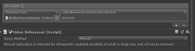 Triggering Custom Events from Unity UI controls